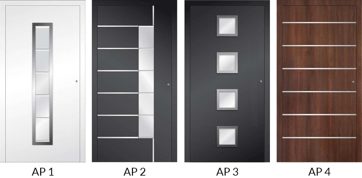 Auswahl 1 an Hauseingangstüren aus Aluminium