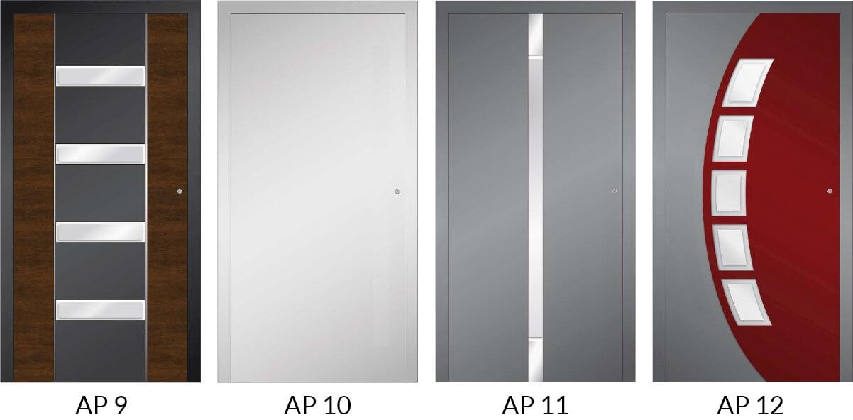 Auswahl 5 an Hauseingangstüren aus Aluminium