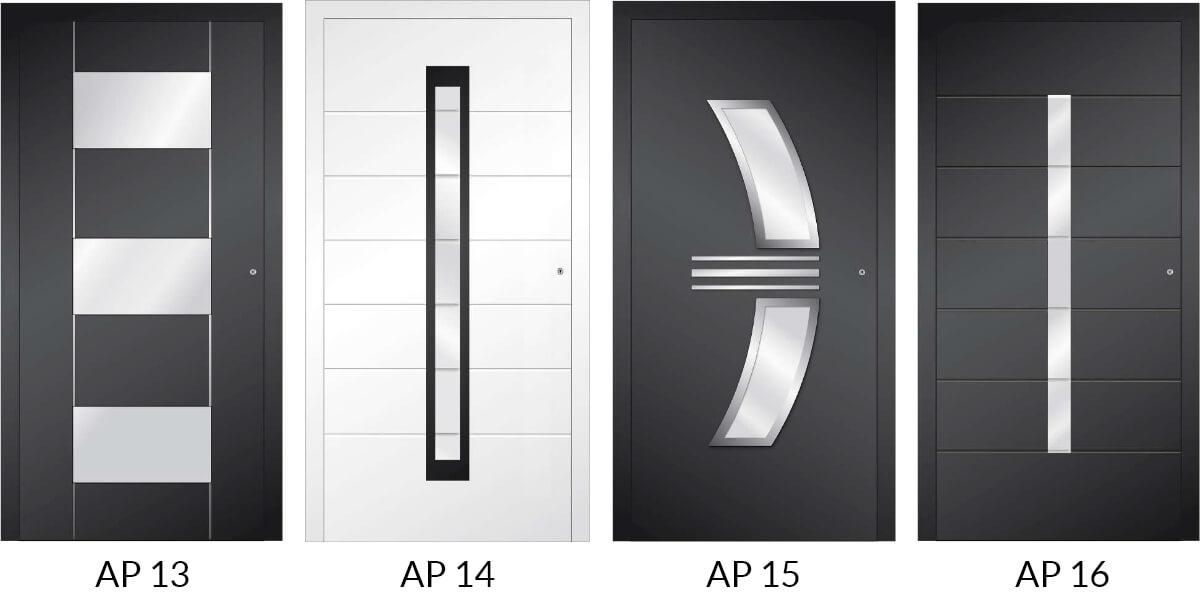 Auswahl 4 an Hauseingangstüren aus Aluminium
