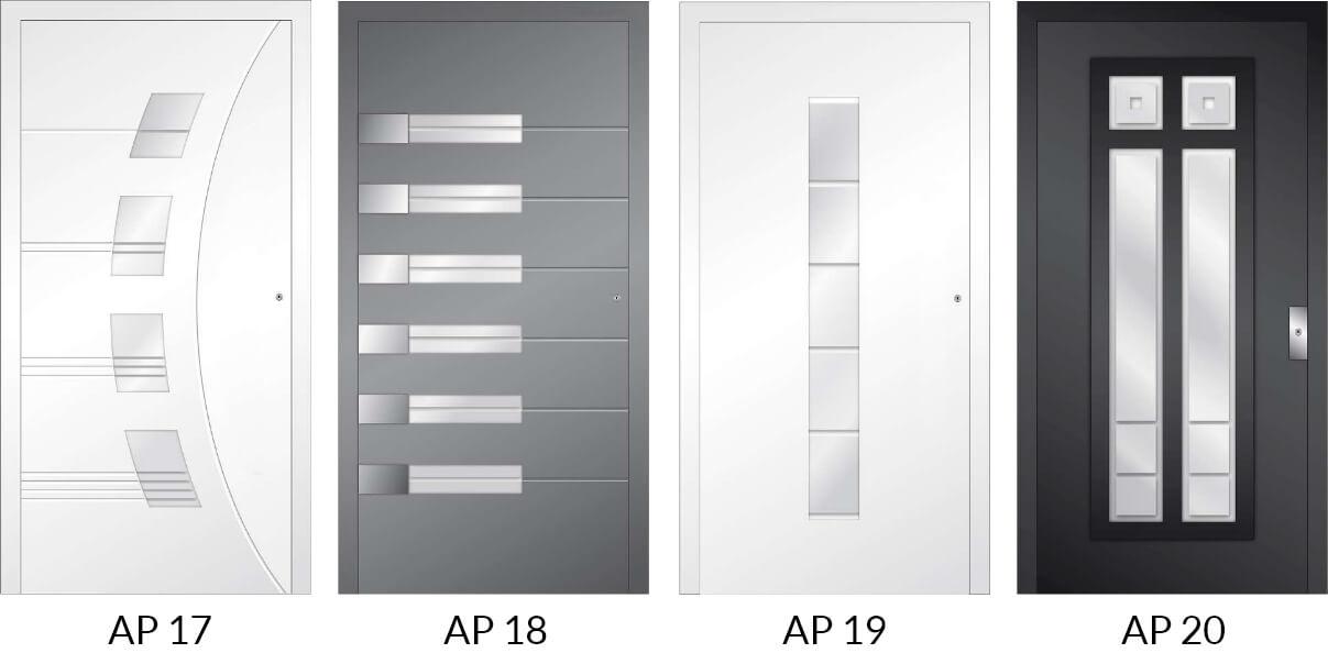 Auswahl 3 an Hauseingangstüren aus Aluminium