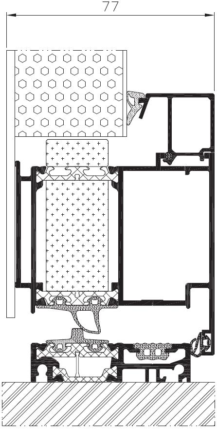 Konstruktion Alutür