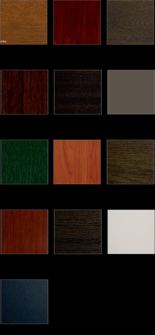 Farben Kunststofftüren SERIE: BL, EK, NL EK