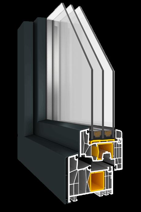 Kunststofffenster Impresivo KN3 mit AluClip