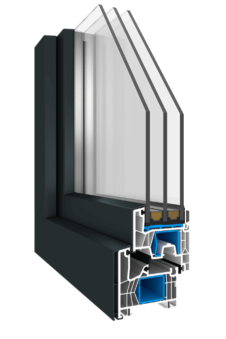 Kunststofffenster Optico KN2 mit AluClip