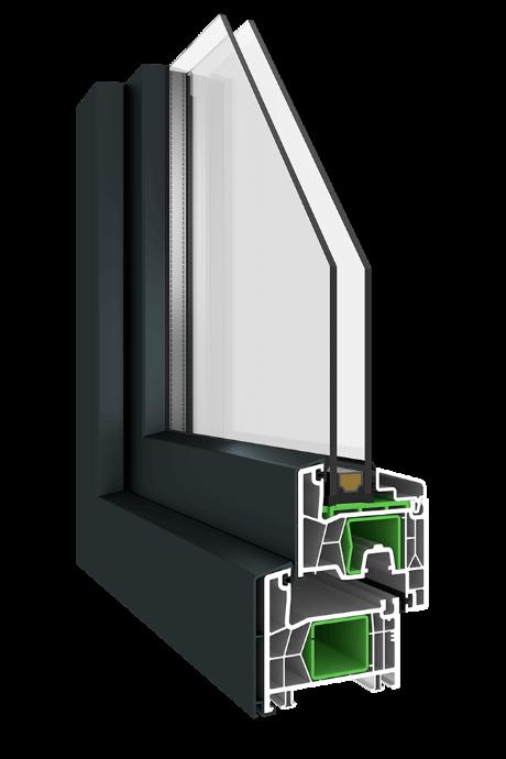 Kunststofffenster Simplo KN1 mit AluClip
